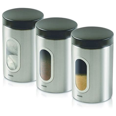 stainless steel kitchen canisters sets kitchen canisters set of 3 silver stainless steel