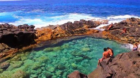amazing queens bath  kauai hawaii island masspix