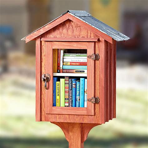 neighborhood book nook woodworking plan  wood magazine