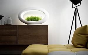 lampe de table sans fil a led avec mini jardin la grasslamp With carrelage adhesif salle de bain avec lampe chevet led