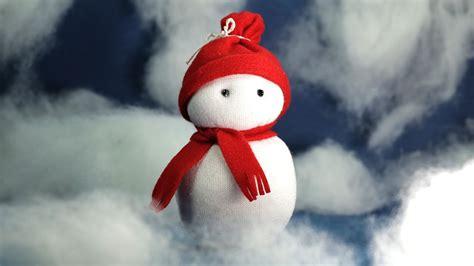 sock snowman craft christmas crafts diy tutorial youtube