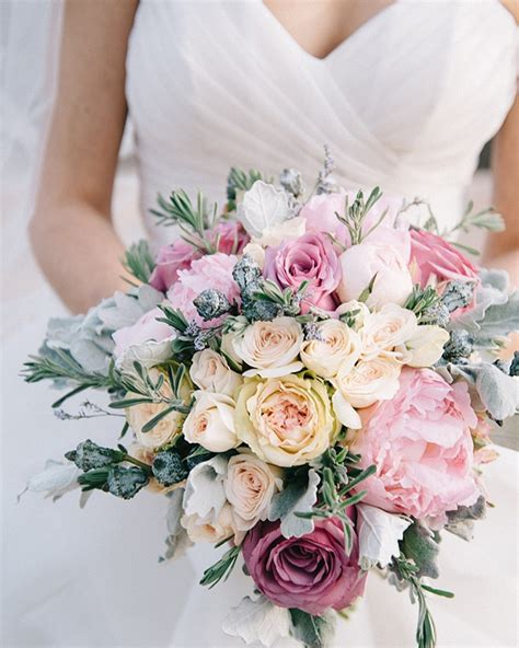 20 Mixed Pastel Wedding Bouquets Southbound Bride