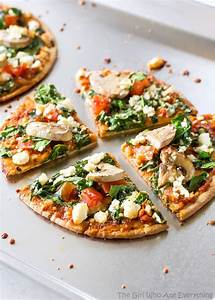 Spinach and Feta Pita Pizza - The Girl Who Ate Everything
