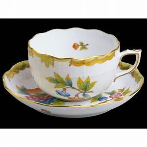 Tasse à Thé : tasse th en porcelaine herend vbo soucoupe en porcelaine ~ Teatrodelosmanantiales.com Idées de Décoration