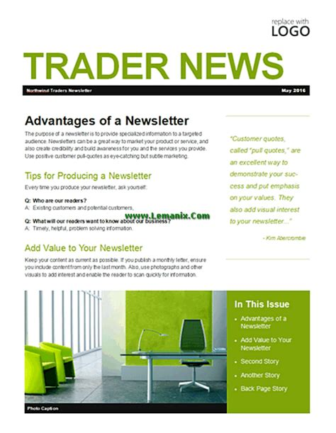 microsoft newsletter business newsletter microsoft publisher templates for publisher 2013 or newer software