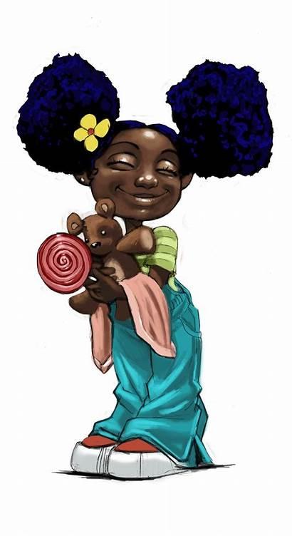 African American Hair Natural Artwork Cartoon Animated