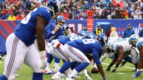 giants  lions time television radio