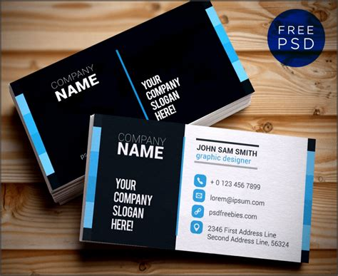 business card template ai  sampletemplatess