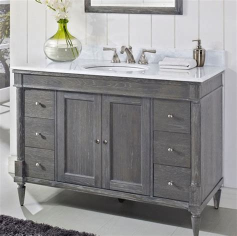 fairmont rustic chic 48 quot vanity only silvered oak rustic bathroom vanities and sink