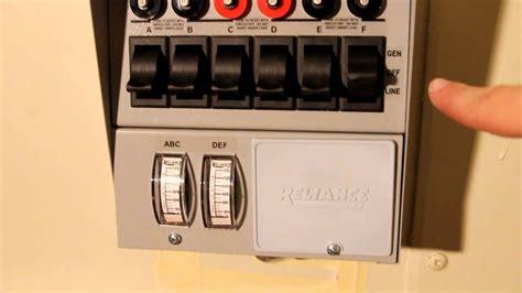 installing a reliance controls pro 6 circuit 30 generator transfer switch kit