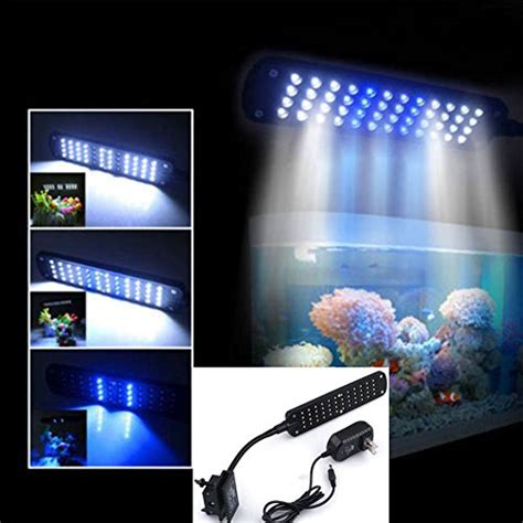 48 led 2 mode fish tank aquarium plant grow clip white
