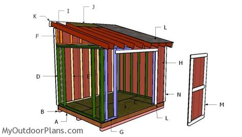 lean  shed plans myoutdoorplans