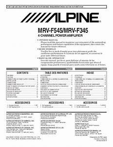 Alpine Stereo Amplifier Mrv