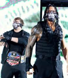 WWE Roman Reigns Dean Ambrose and Mask