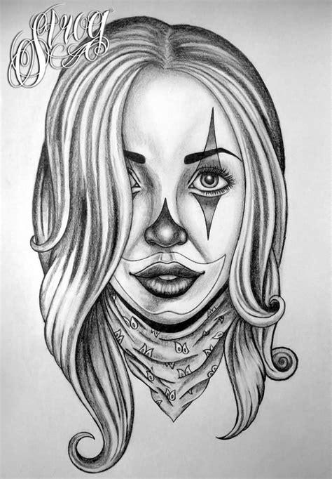 Gangster Joker Girl Tattoo Designs - Best Tattoo Ideas