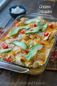 Chicken Chilaquiles -A Mexican casserole with tortilla ...