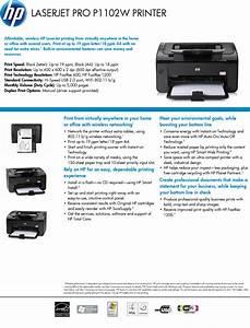 Hp Laserjetcolor Laserjet Pro P1102w User Manual 1002814