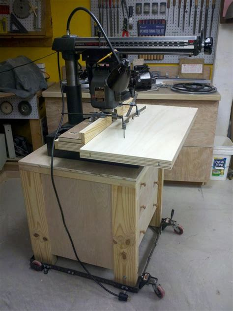 radial arm  cabinet stand  molding shaper fence