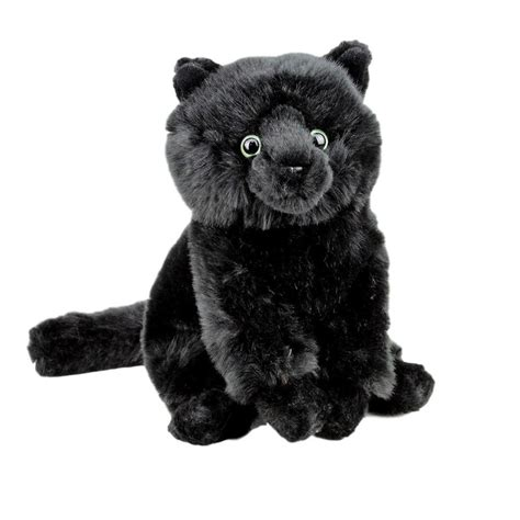 black tabby catsittingplush toycmstuffed animal
