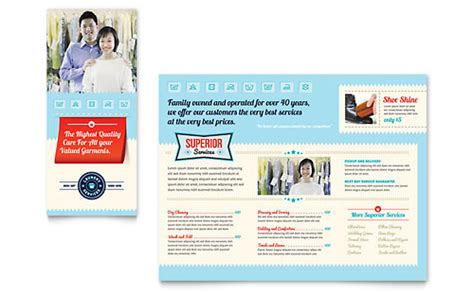 house cleaning maid services brochure template design