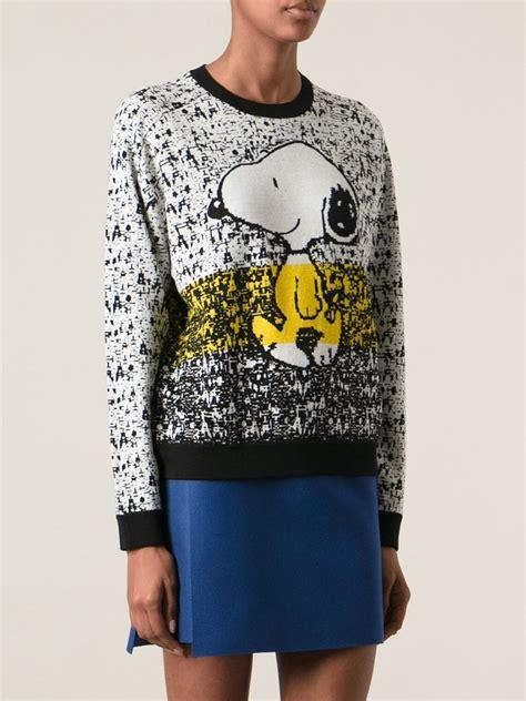 snoopy sweater iceberg snoopy sweater in lyst
