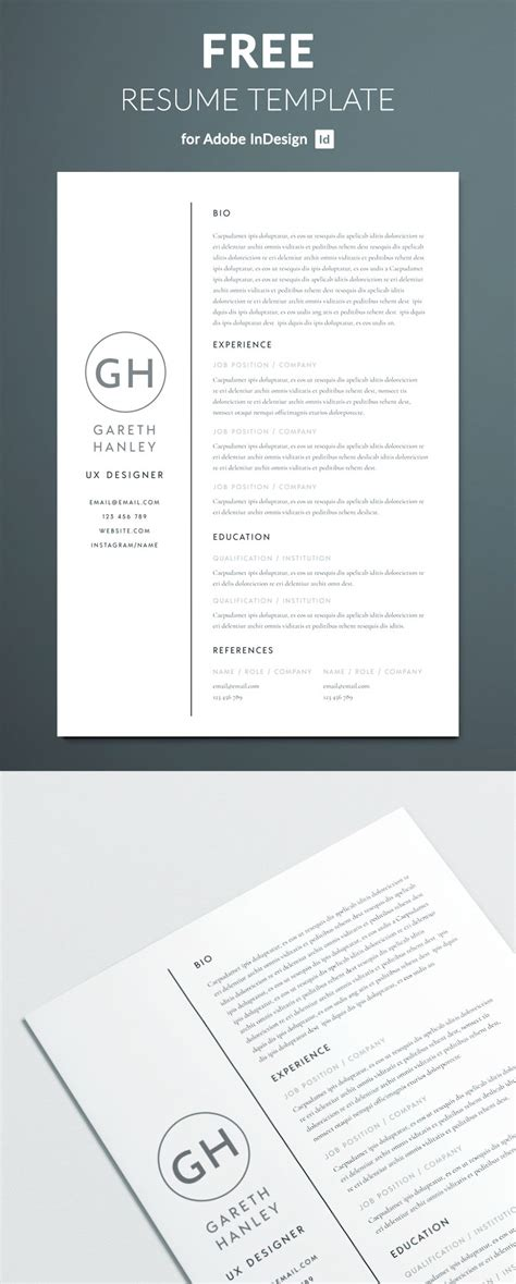 Indesign Resume Template by The Basic Resume Template Free