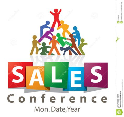 logo design sles sales conference logo stock illustration image of workers
