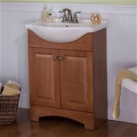 Glacier Bay Bath Vanity Tops by Glacier Bay Chelsea 24 In Vanity In Nutmeg With Porcelain