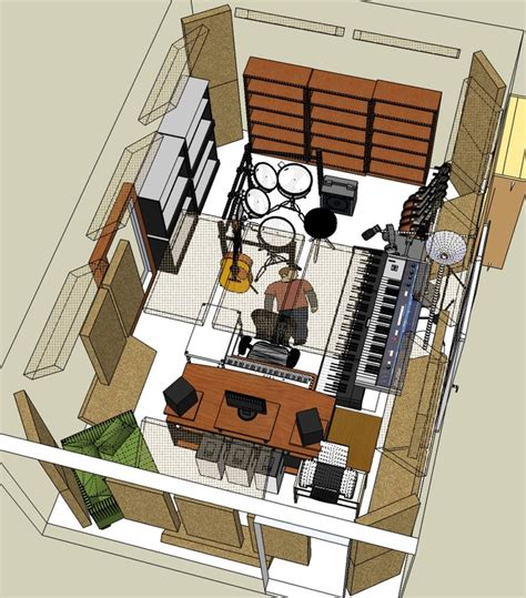 sketchup studio  research  typical sound studios