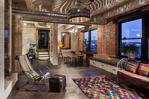 Intense, Colorful, Eclectic, Industrial, Home, Design, Located, In, Portland, Usa