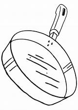 Pan Coloring Pages Frying sketch template