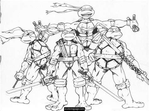 Teenage Mutant Ninja Turtles Free Coloring Page Printable