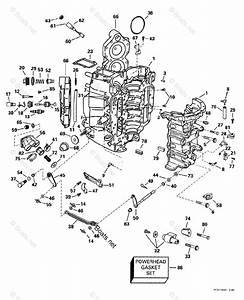 Johnson Outboard Parts By Year 1999 Oem Parts Diagram For Cylinder  U0026 Crankcase