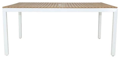 riviera outdoor faux wood rectangular dining table