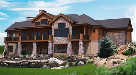 Unique Hillside House Plans #9 Hillside House Plans With