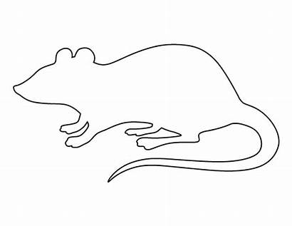 Rat Printable Pattern Outline Template Rats Tattoo