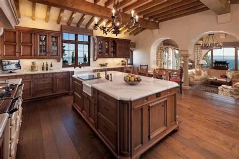 kitchen island with raised bar 35 luxury mediterranean kitchens design ideas