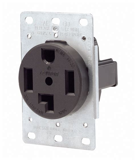 leviton     wire  amp  volt flush mount dryer receptacle ebay