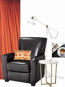 Leather, Chair, Reading, Nook