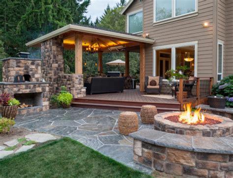 top 30 outdoor living area with fireplace outdoor living