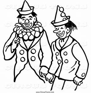 Gallery For > Circus Clown Clipart Black and White