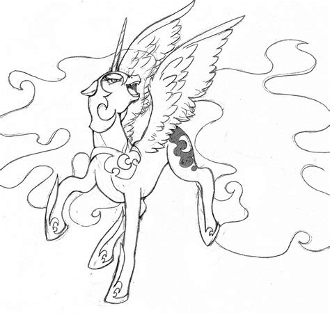 nightmare moon coloring pages coloring home