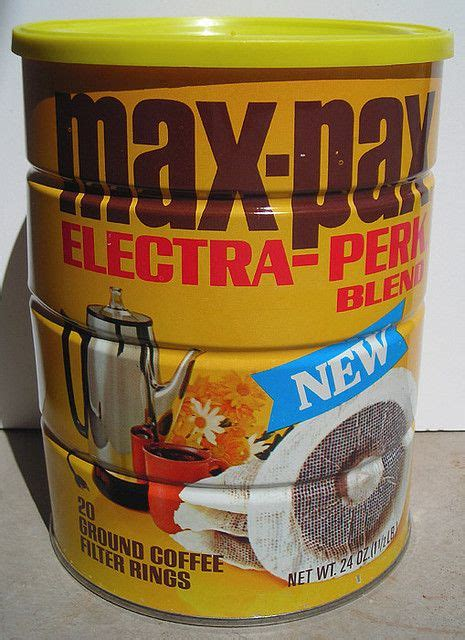 We consume 400 billion cups each year, nearly 400 million cups a day. Max-Pax Coffee Can, 1960's   Coffee cans, Coffee, Canning