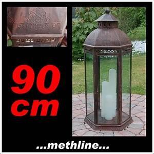 Kerzen 50 Cm Hoch : methline gmbh laterne l90 antik 90x38x33 cm gartenlaterne ~ Bigdaddyawards.com Haus und Dekorationen