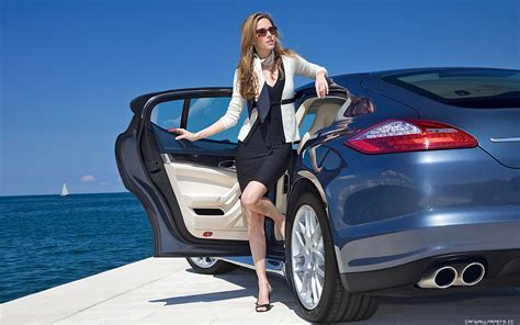 Woman With #luxury Car