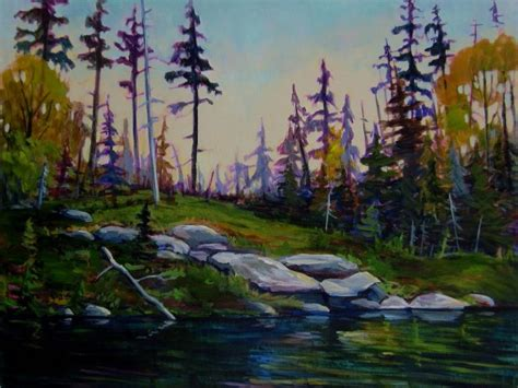 Canoes Saskatoon by Canoeing And Painting In The Northern Saskatchewan