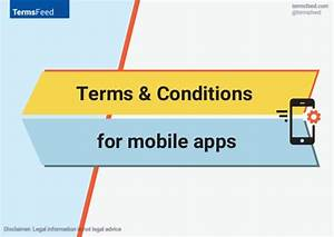 terms conditions for mobile apps ios android windows With mobile app terms and conditions template