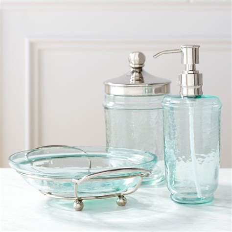 glass bathroom set oasis bathroom accessories everything turquoise
