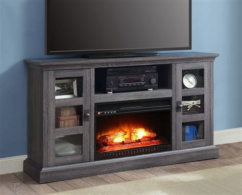 whalen media fireplace console  tvs    gray