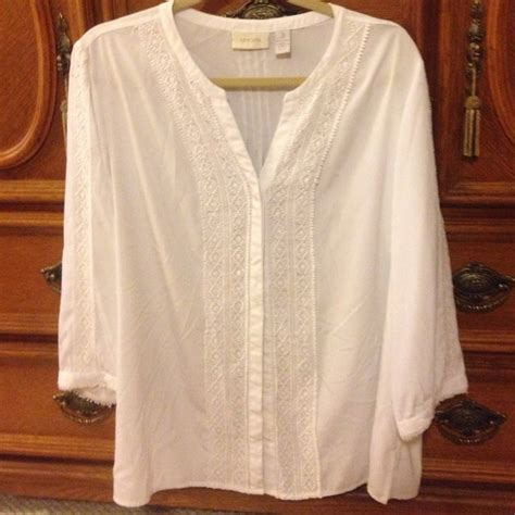 chicos blouses 66 chico 39 s tops chico 39 s white blouse from 39 s